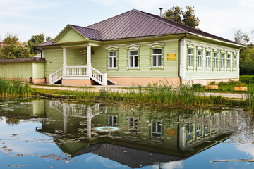 typical old russian wooden house of XIX century