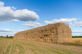 Haystack against a background of the sky