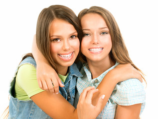 Teenager Friends. Friendship. Happy and Laughing Teenage Girls