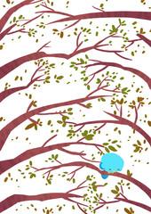 pájaro solitario