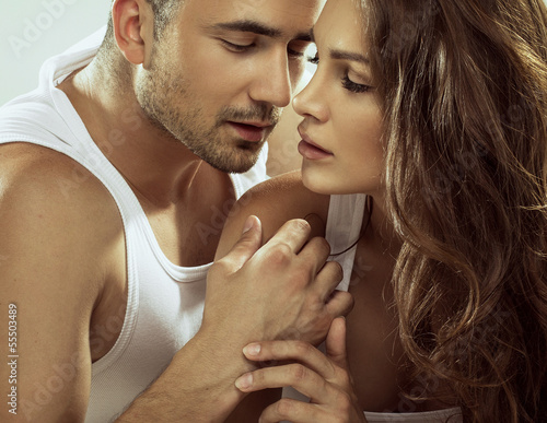 Portrait of sensual couple