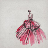 Fototapety Beautiful modern woman drawing