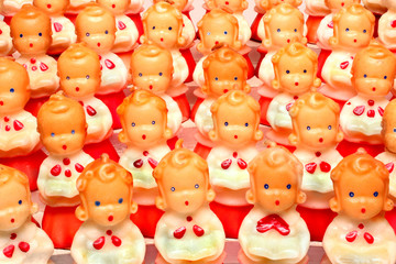 Antique decorative Christmas choir candles figurines