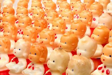 Christmas choir candles figurines Antique decorative