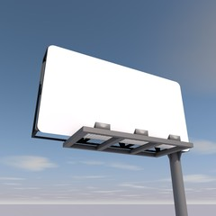 Billboard with empty screen, Illustration.