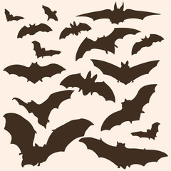 vector bats silhouettes