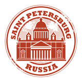 Stamp with words Saint Petersburg, Russia inside, vector