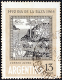 The Discovery of America (Florentine woodcut) (Argentina 1964) poster