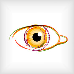 Vector lines eye vector concept