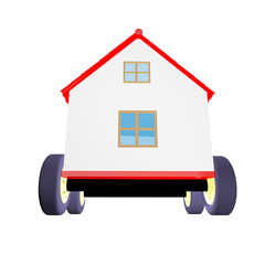 House on wheels 3d