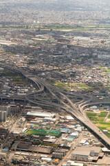Aerial View of Kiyosu Junction of Nagoya Expressway