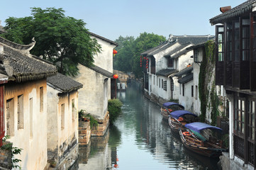 Water town near Suzhou, China ( Zhouzhuang )