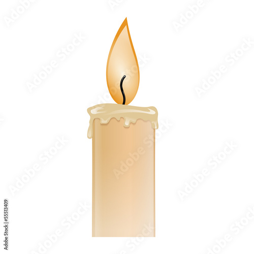 Illustration of a burning candle wax