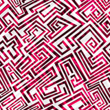 red maze seamless pattern