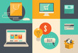 E-commerce and internet shopping icons