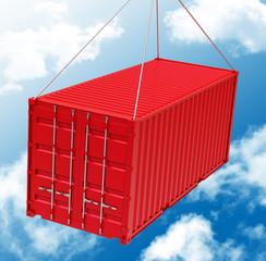 Der Frachtcontainer