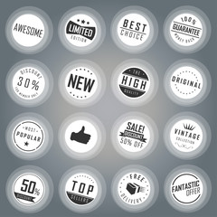 Label set with transparent color