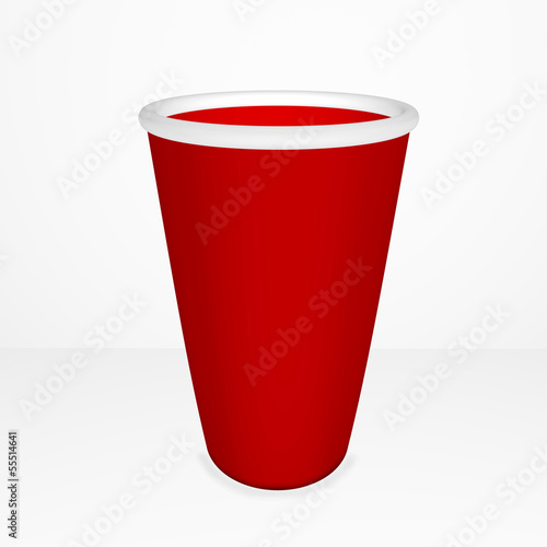 isolated paper cup