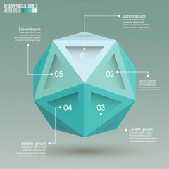 3d Sphere Infographic template, vector illustration.