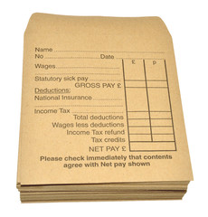 Wage Packets On White