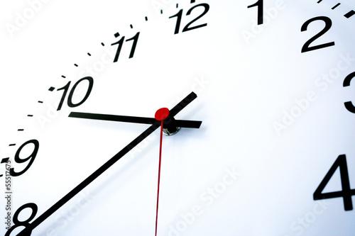 Leinwandbild Motiv white clock