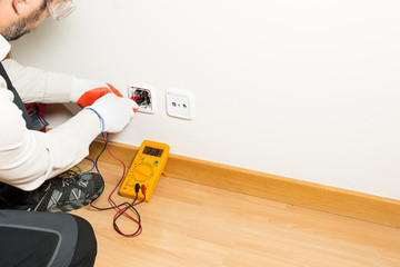 Performing a repair electrician