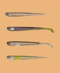Набор силиконовых приманок  для ловли хищной рыбы