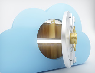 Data storage with cloud computing
