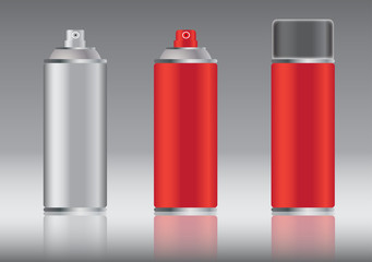 red aluminum spray can vector images