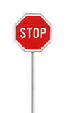 Stop sign isolated on white - 55519089