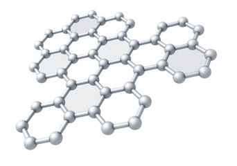 Graphene molecule structure fragment