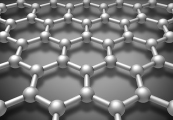 Graphene layered molecule structure