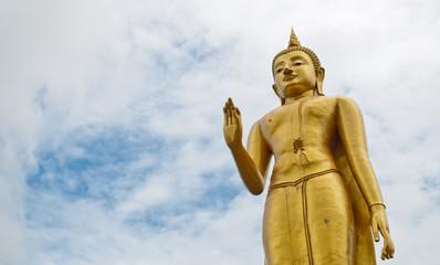 Temple at Hat Yai Thailand (Standing Buddha)