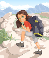 Hiking girl