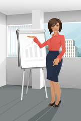 Businesswoman on presentation