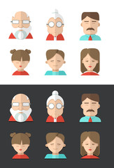 Avatars of different people ages
