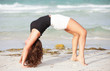 Woman performing a backbend