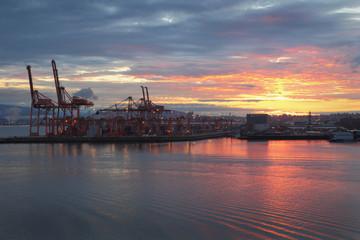Vancouver Port Sunrise, Burrard Inlet