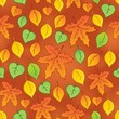 Leafy seamless background 3