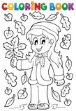 Coloring book with autumn theme 2