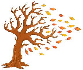 Autumn tree theme image 1