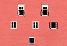 """Постер, картина, фотообои """"Old castle wall with windows"""""""