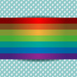 Rainbow card template