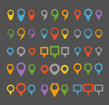 Color navigation pins collection