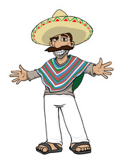 Mexican Cartoon Character, vector illustration