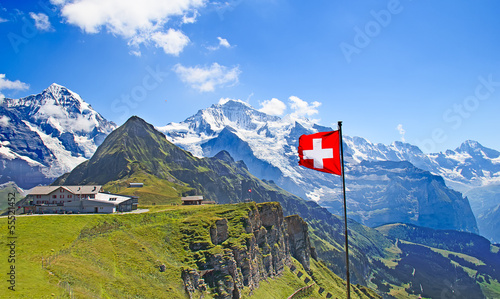 Papiers peints Alpes Swiss flag