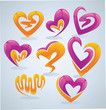 bright and glossy vector collection of love concept
