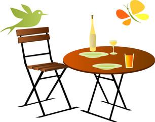 repas en plein air