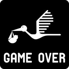 Funny birth symbol - Game Over