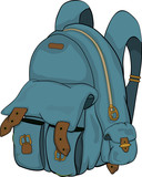 School backpack. Cartoon